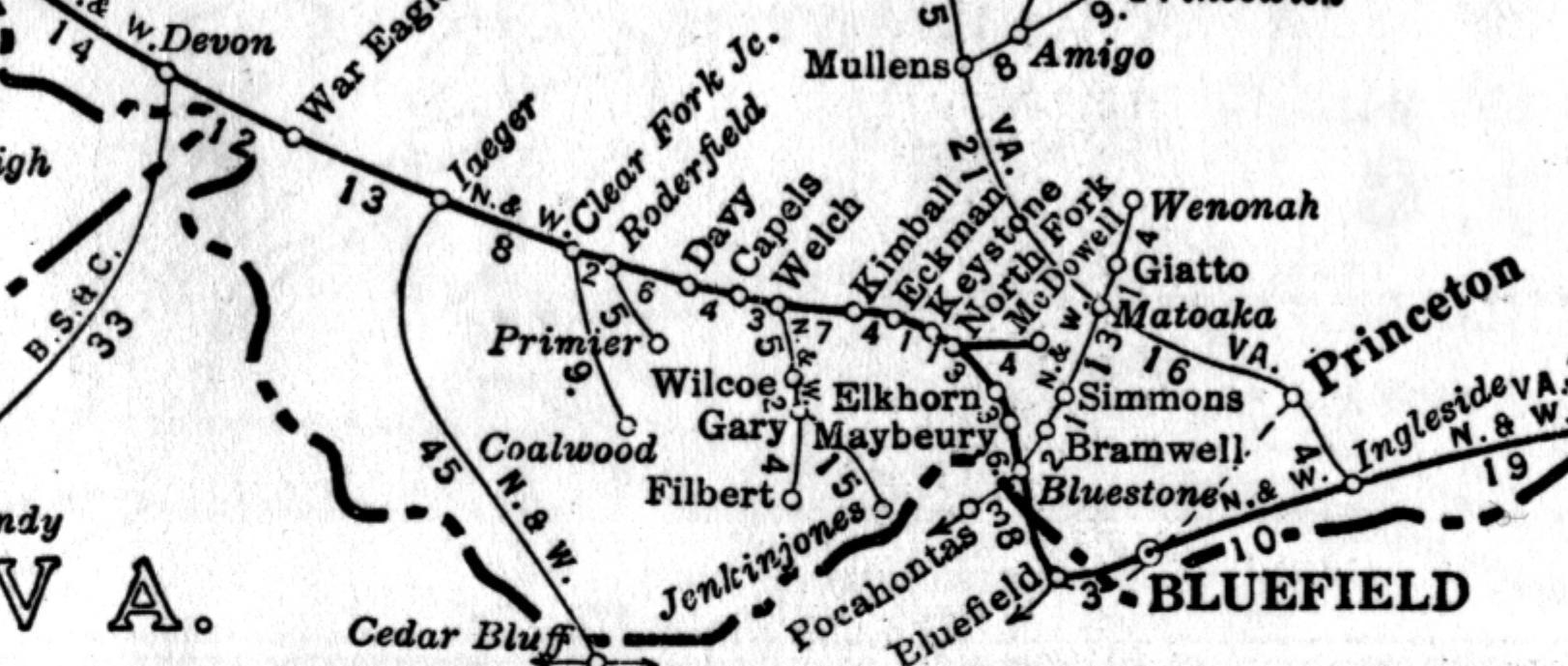 WV Railroad Map